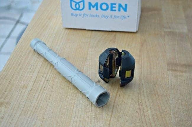 A new kitchen faucet and soap dispenser by Moen. chatfieldcourt.com