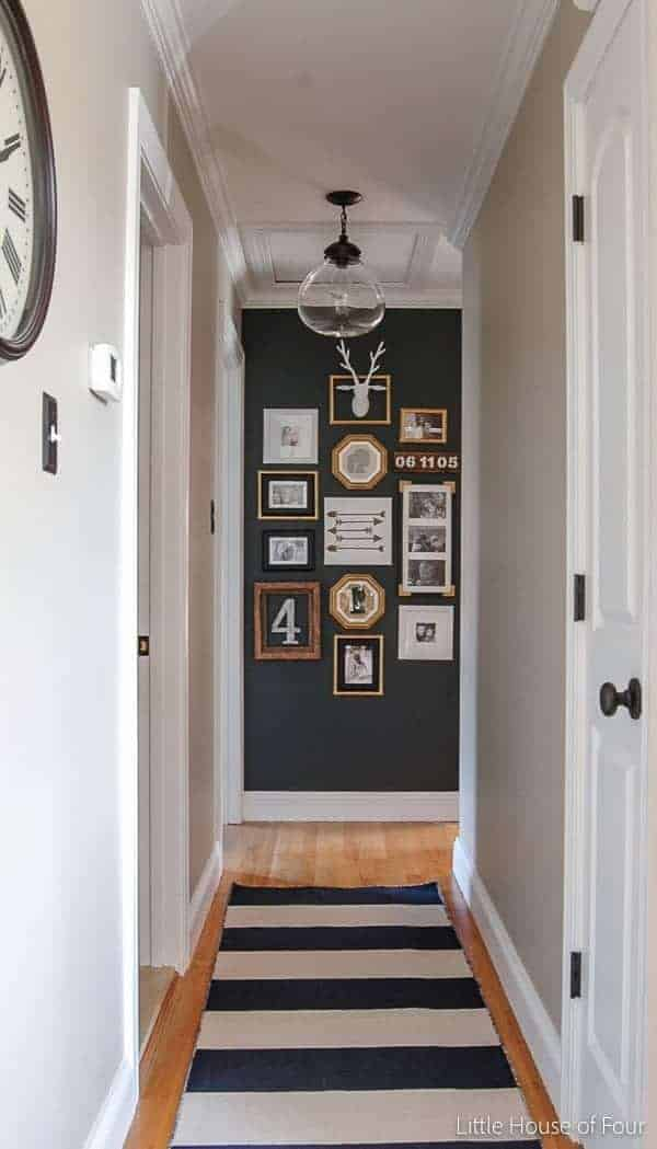Small hallway decorating ideas for Dark wall decor ideas