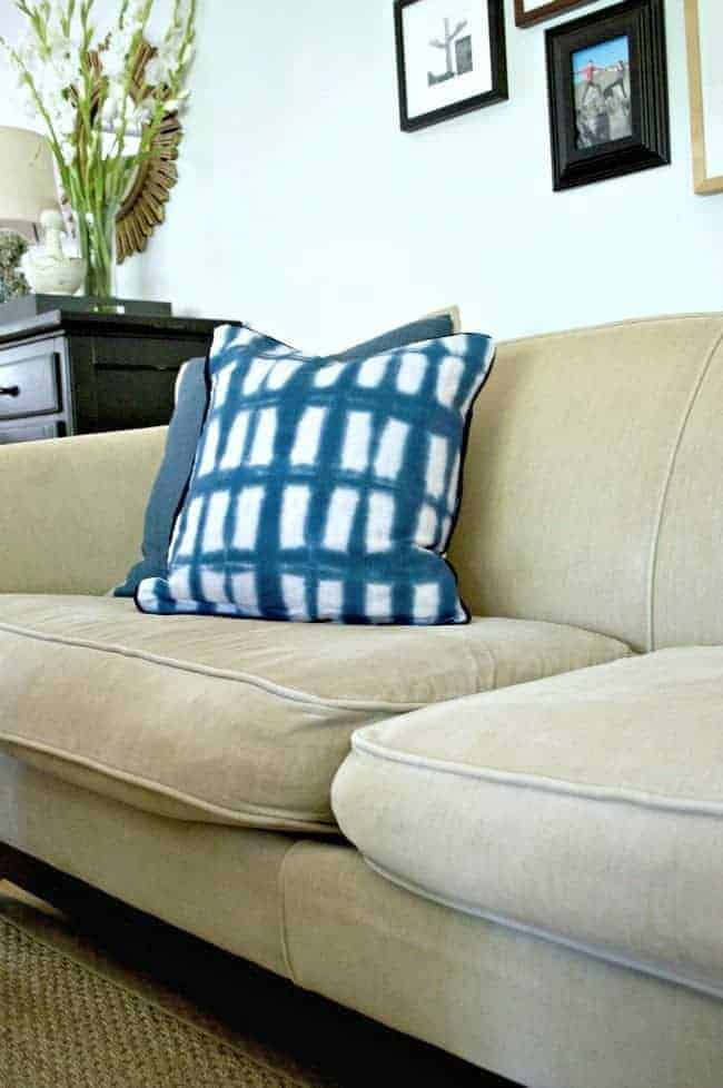A genius idea to quickly and easily fix sagging sofa cushions with new foam. chatfieldcourt.com