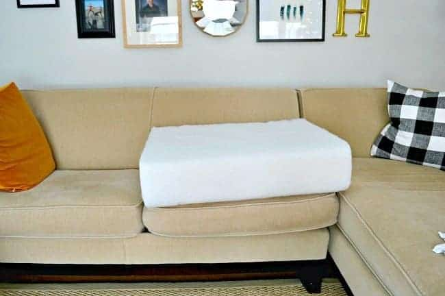 How to quickly and easily fix sagging sofa cushions with new foam. Genius! chatfieldcourt.com