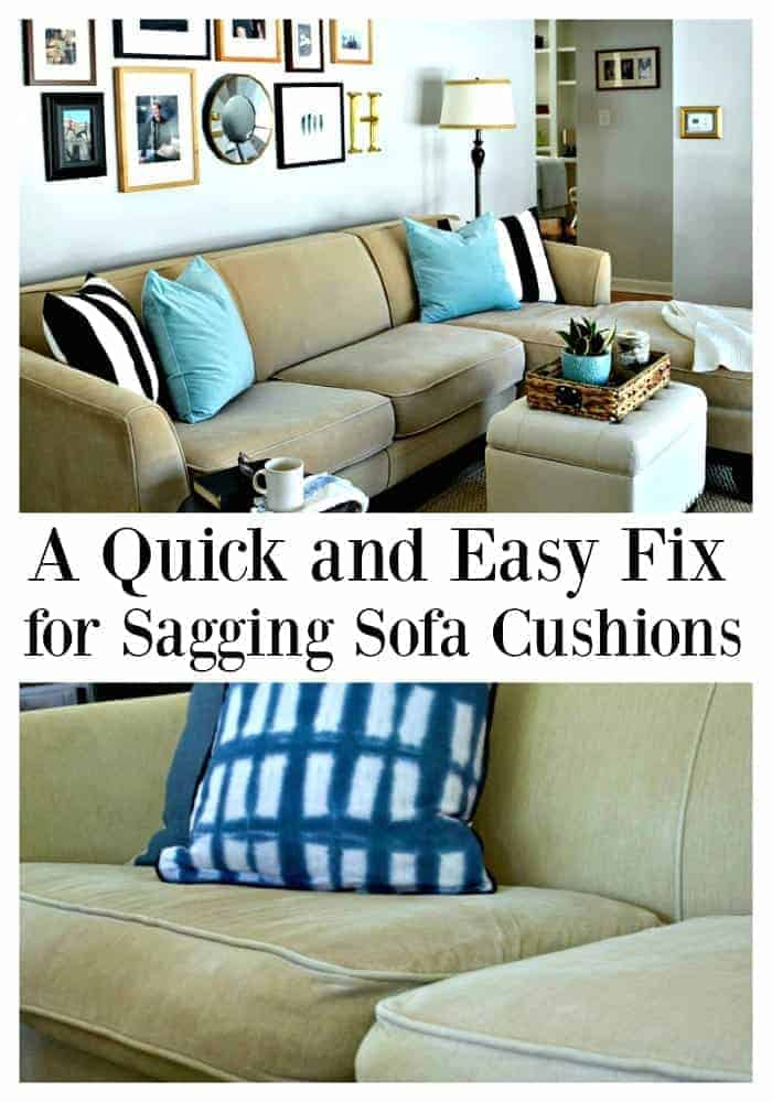 Fix Sagging Sofa Cushions
