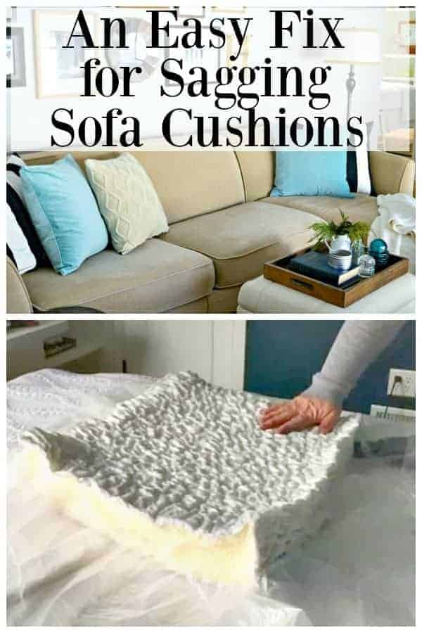 beige sofa with pillows on it and cushion foam