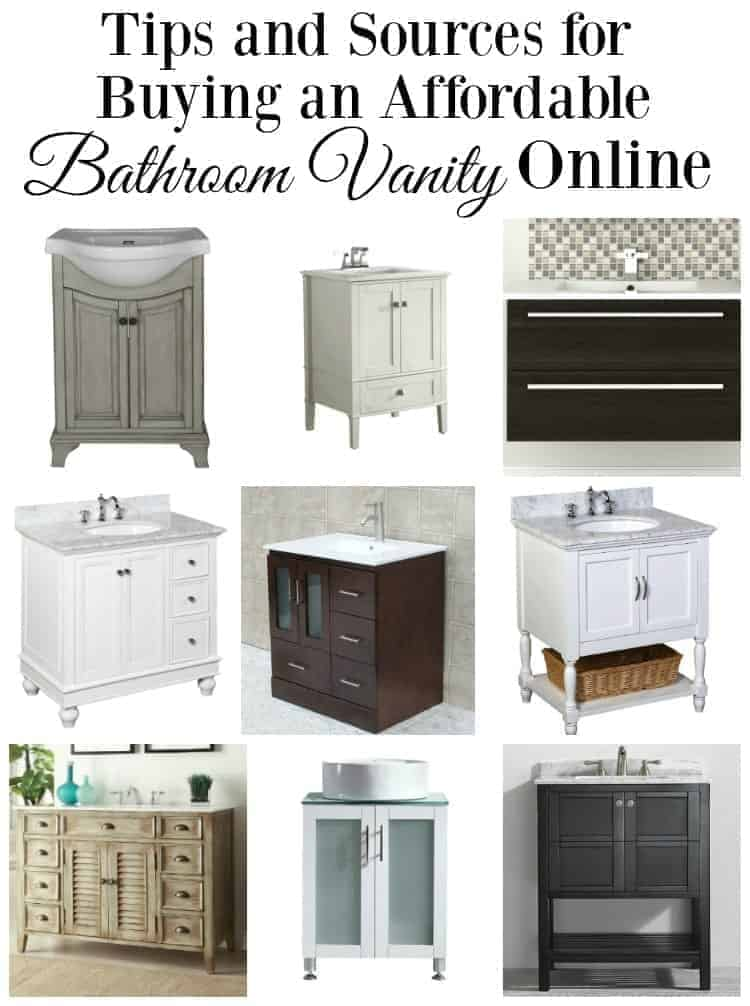 9 different bathroom vanities you can find online, plus a large graphic