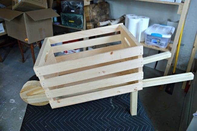The Home Depot DIH Workshop - Rustic Wheelbarrow completed