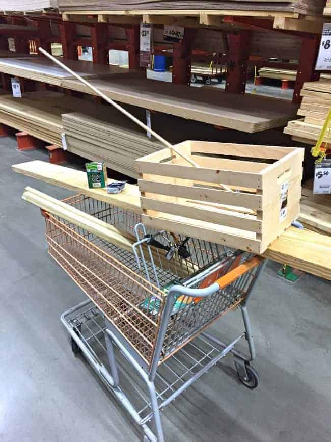The Home Depot DIH Workshop - Rustic Wheelbarrow materials