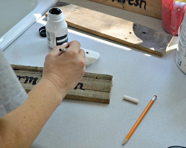 The Home Depot DIH Workshop - Rustic Wheelbarrow - adding personality