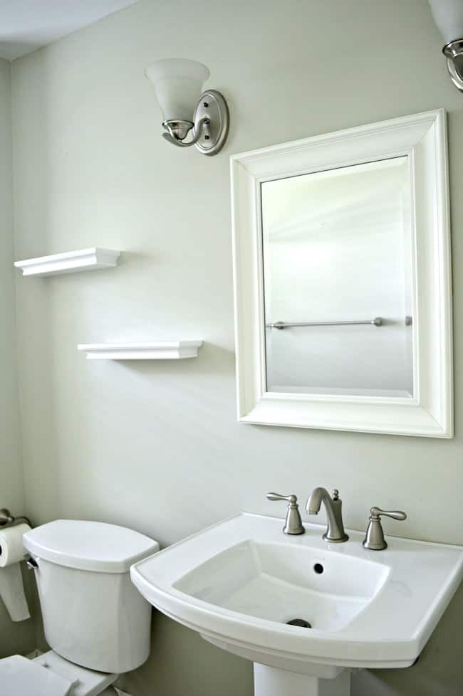 Fancy Pedestal sink before the new bathroom vanity was installed chatfieldcourt