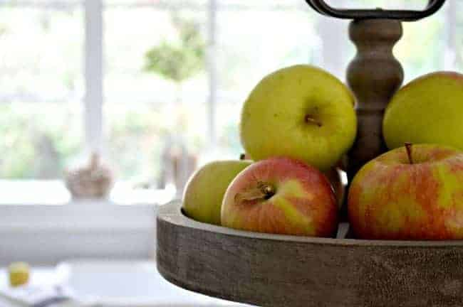 Using apples and other natural fall touches for a Seasonal Harvest Tour.