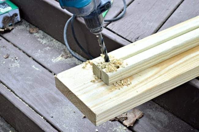 The Home Depot DIH Workshop - Rustic Wheelbarrow drilling