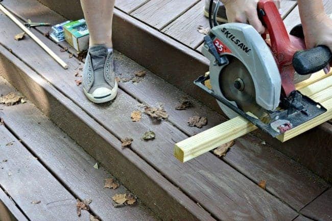 The Home Depot DIH Workshop - Rustic Wheelbarrow marking and measuring