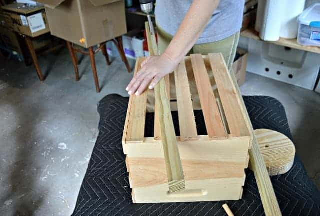 The Home Depot DIH Workshop - Rustic Wheelbarrow assembly