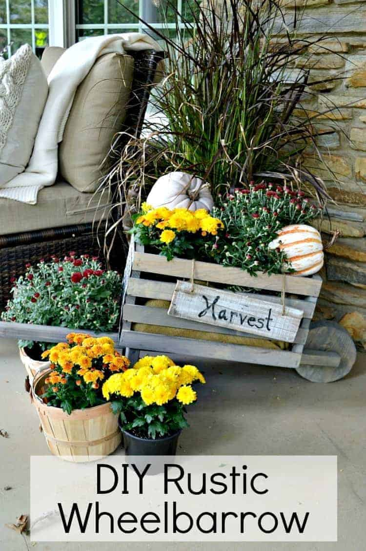 How to make a DIY rustic wheelbarrow with The Home Depot Do It Herself Workshops.