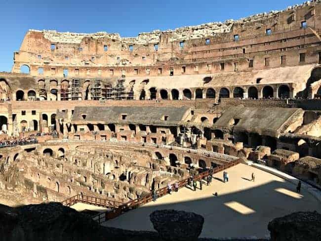 Visiting The Colosseum in Rome, Italy on our 2 week Mediterranean cruise.