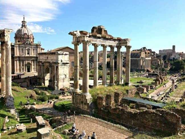 Visiting The Roman Forum in Rome, Italy on our 2 week Mediterranean cruise.