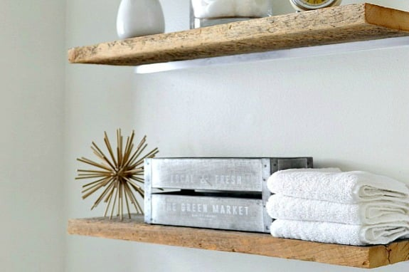 mirrors in bathrooms diy faux floating shelves 13706