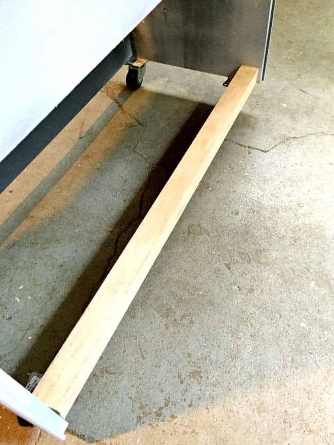IKEA Rast hack - how to turn the IKEA Rast into an outdoor storage cabinet with wheels.