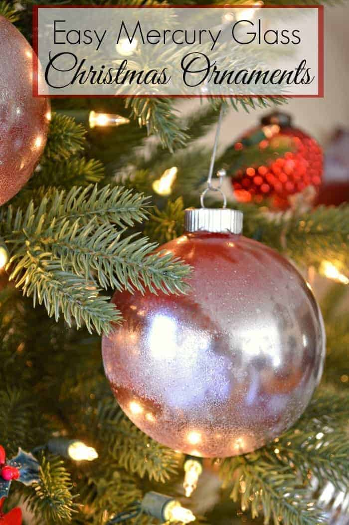 Easy Mercury Glass Christmas Ornaments