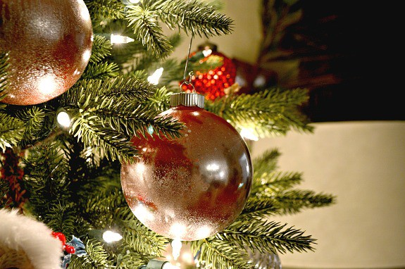 Easy Mercury Glass Christmas Ornaments