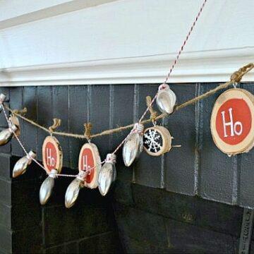 DIY garlands on a fireplace