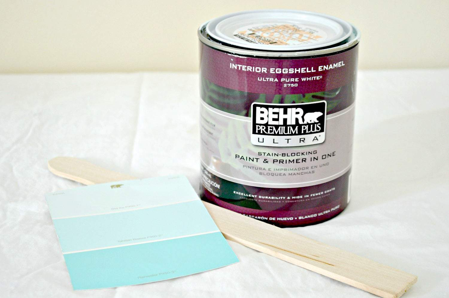 Taking a Goodwill dresser from drab to fab in one weekend with Behr paint in Sea Ice. www.chatfieldcourt.com