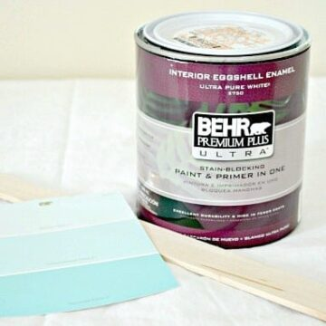 Paint can and paint color strip