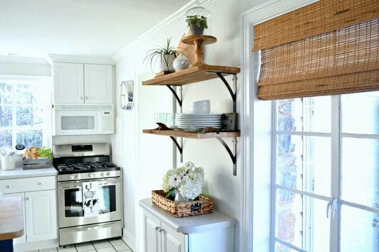 Beautiful DIY Open Shelving In The Kitchen For Under $50.