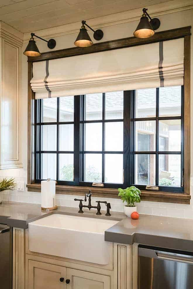 Painted black window trim for Kitchen ideas no window