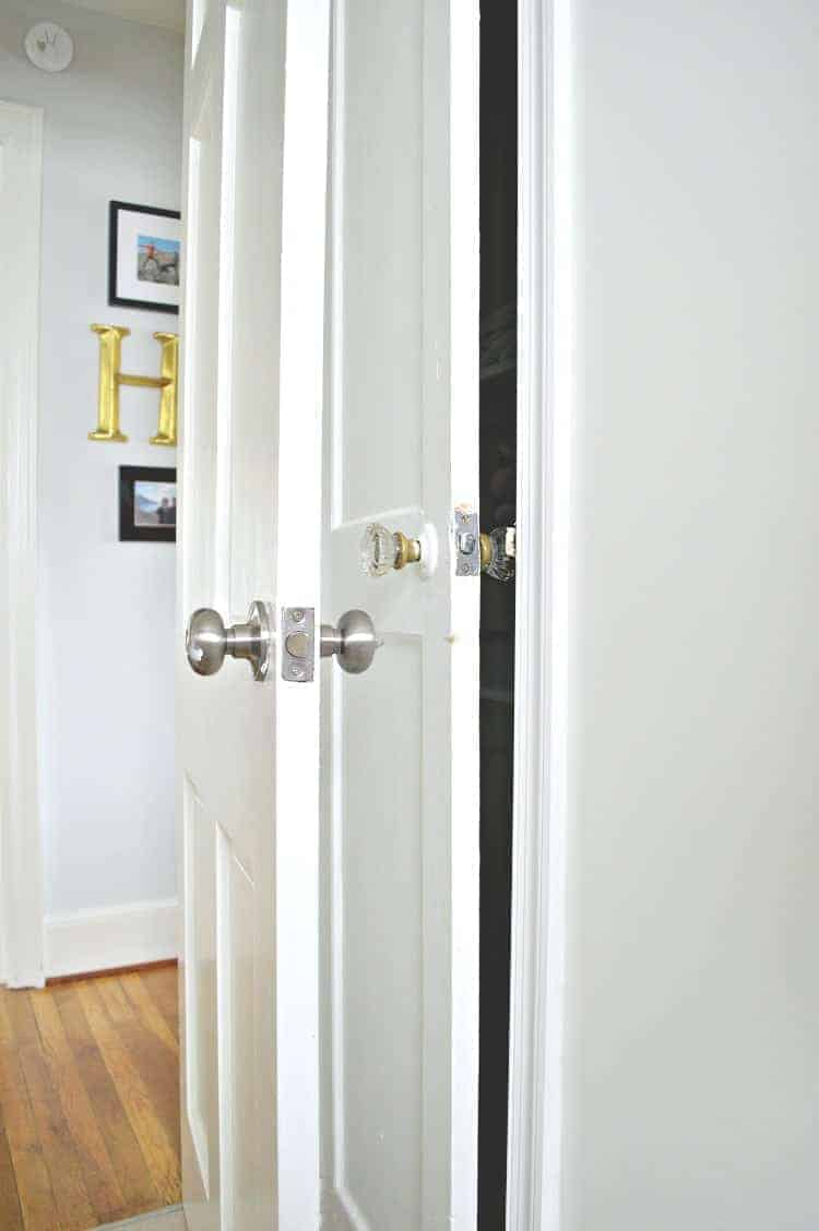 Updating old doors with new glass door knobs | Chatfield Court