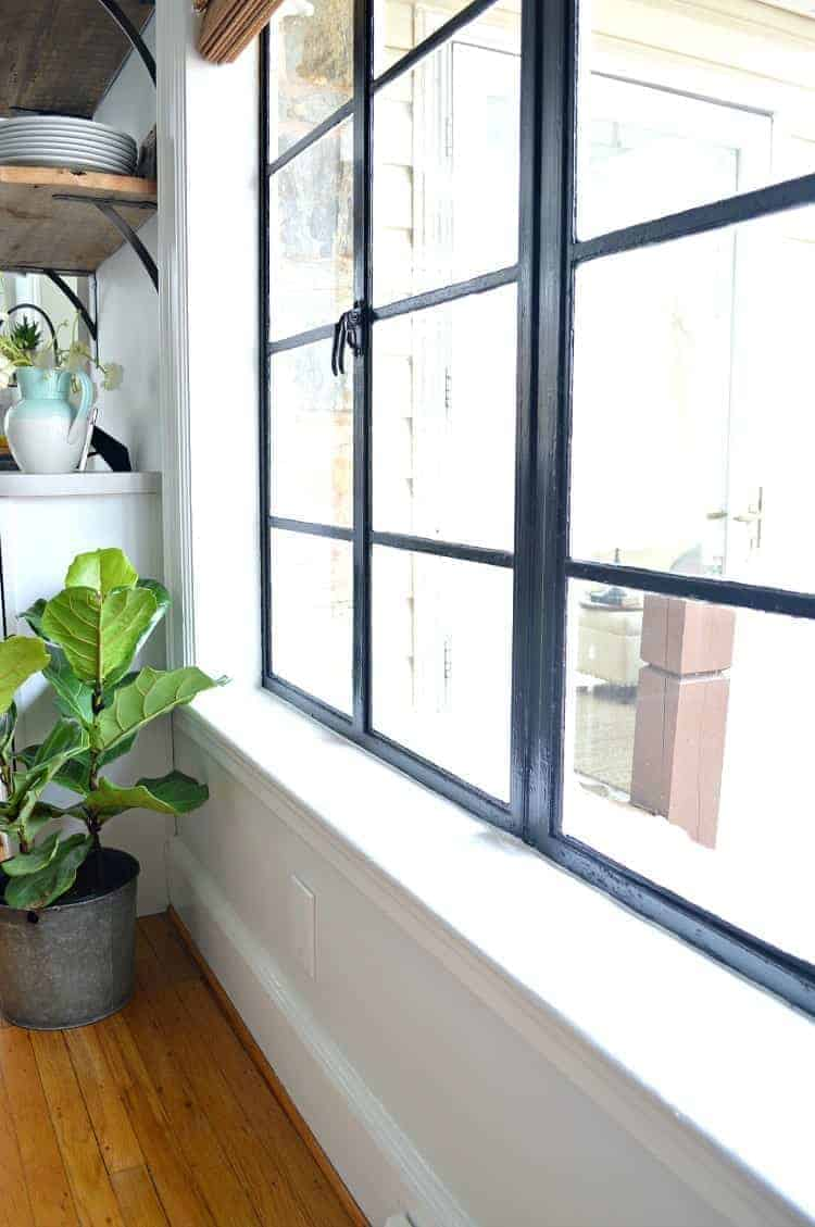 Change up the look in any room of your house with painted black window frames. An easy and inexpensive DIY project. | Chatfield Court