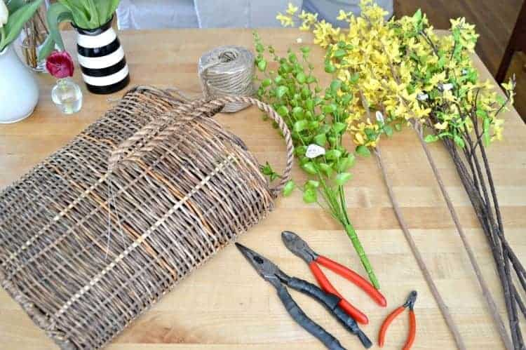 Quick And Easy Spring Front Door Basket | Chatfield Court