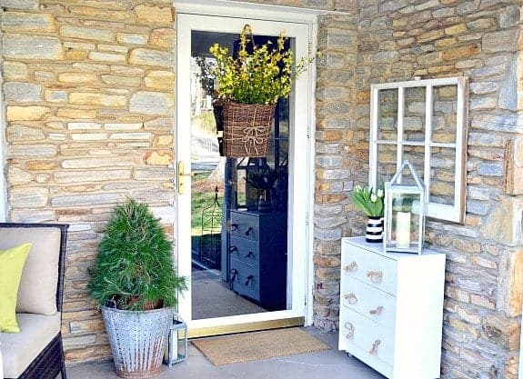 Easy Spring Front Door Basket