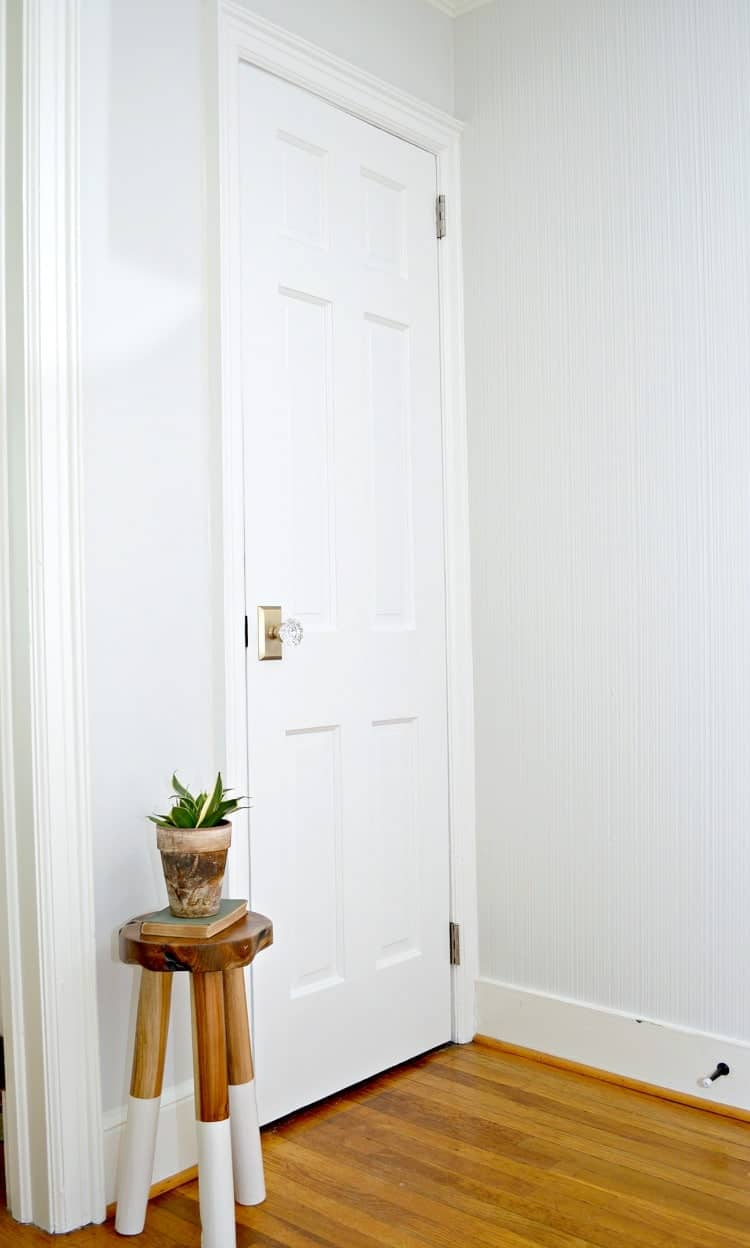 Upgrade and replace an interior basement door by recycling an old door. It's an inexpensive DIY project that anyone can do. | Chatfield Court