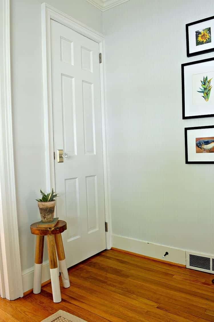 Upgrade and replace an interior basement door by recycling an old door. This is an inexpensive DIY project that anyone can do. | Chatfield Court