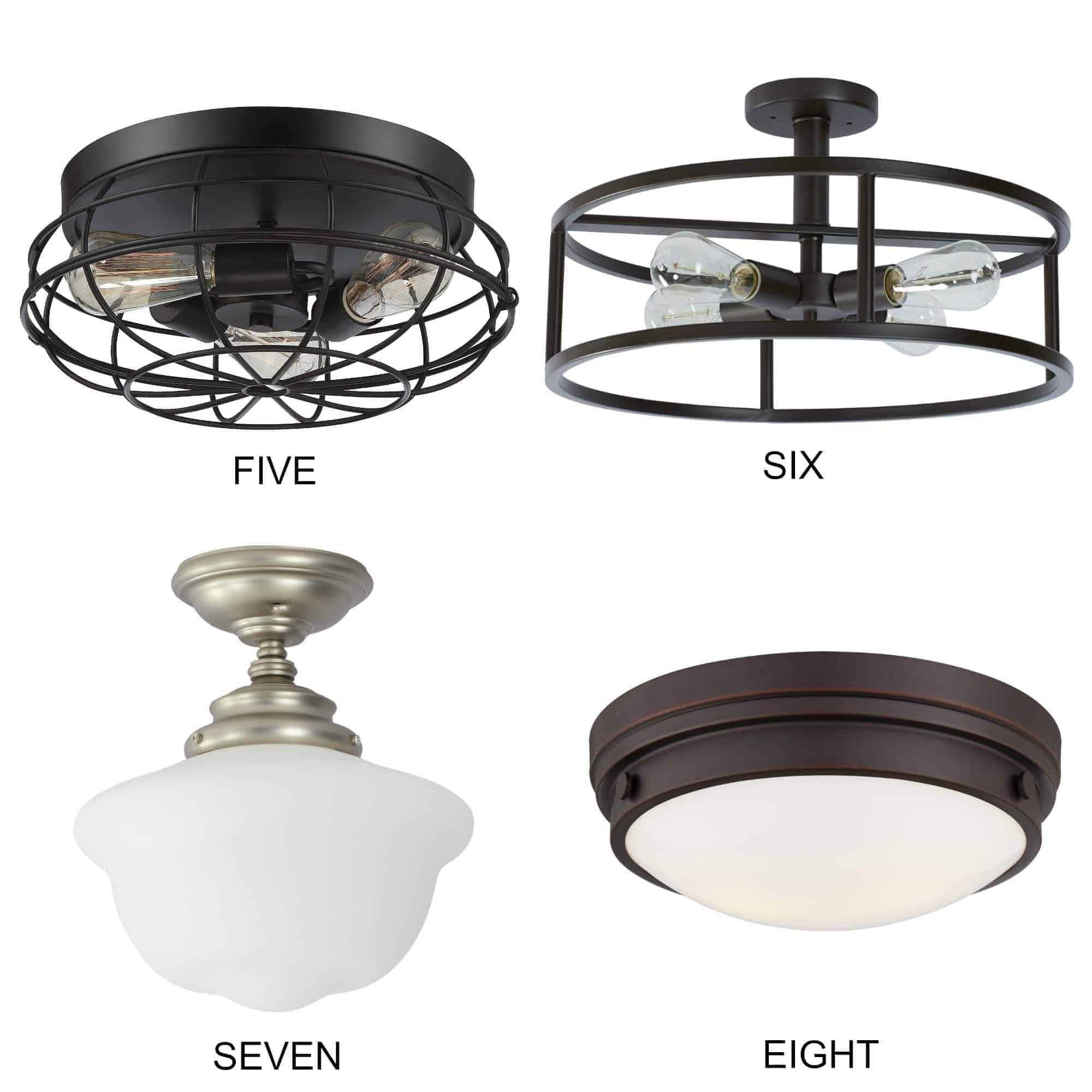 8 flush mount kitchen lighting fixture ideas that will add farmhouse style to your space. | Chatfield Court