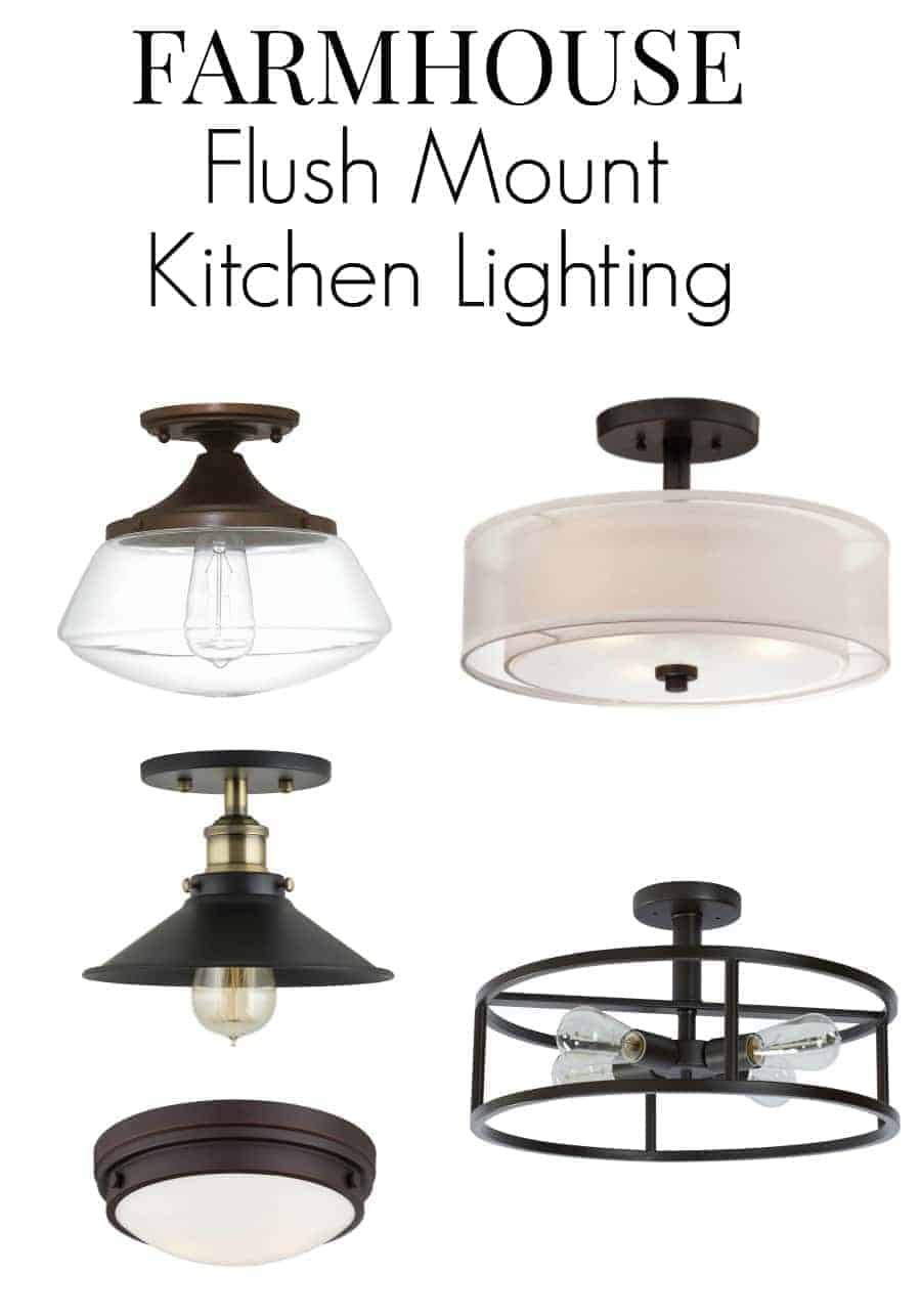 farmhouse kitchen lighting flush mount kitchen lighting No room for pendant lighting in your small kitchen Here are 8 flush mount kitchen