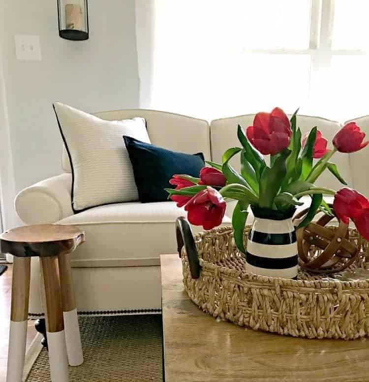 Are you ready for a different kind of spring home tour? Sure, spring is about pretty flowers around the house but it's also a time to give your living room a good cleaning. | Chatfield Court