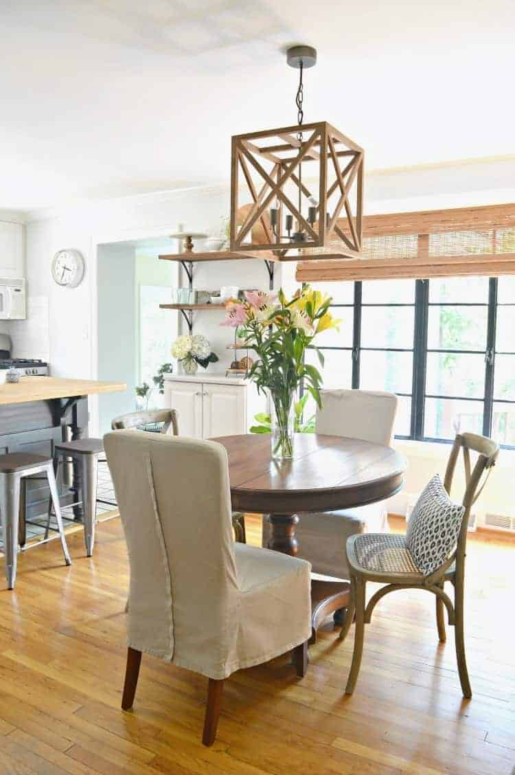 Using paint to give a small dining room a makeover on a budget.
