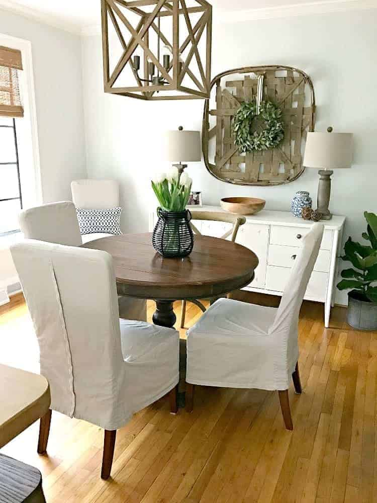 Spectacular Updating A Small Dining Area By Removing Rug That Is Too For The