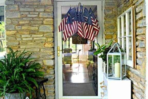 Easy American Flag Display for the Front Door
