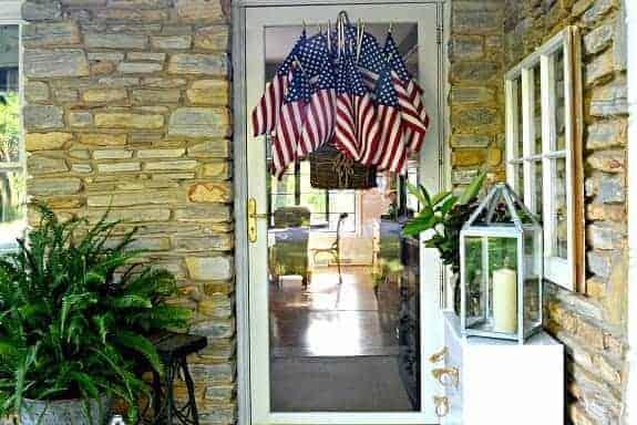 Easy DIY American Flag Display for the Front Door