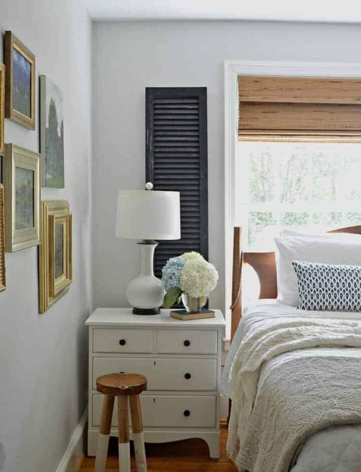 corner of master bedroom with nightstand