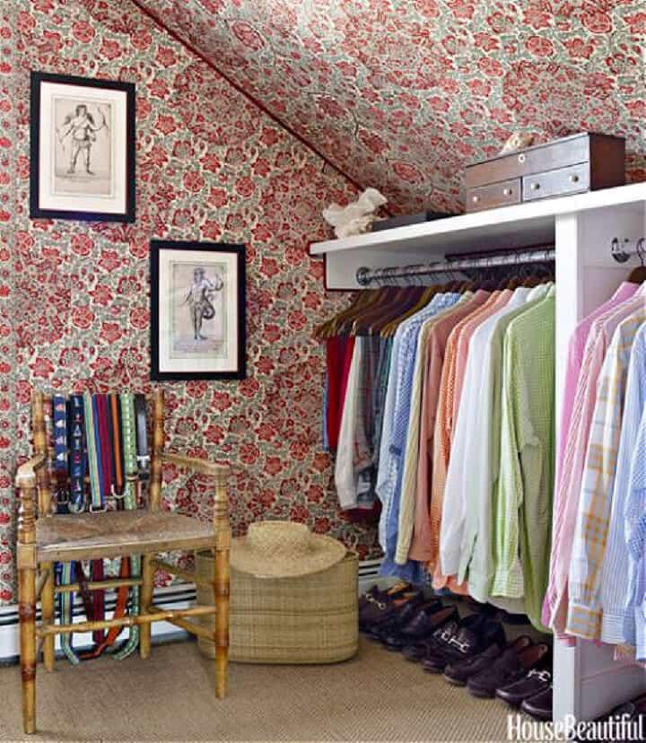 floral closet wallpaper