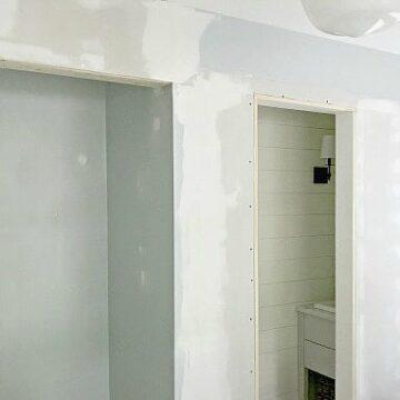 powder room and closet doorways