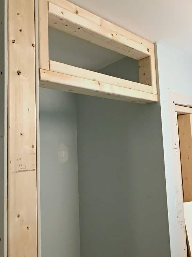 Framing Out The Small Bedroom Closet Next To Powder Room