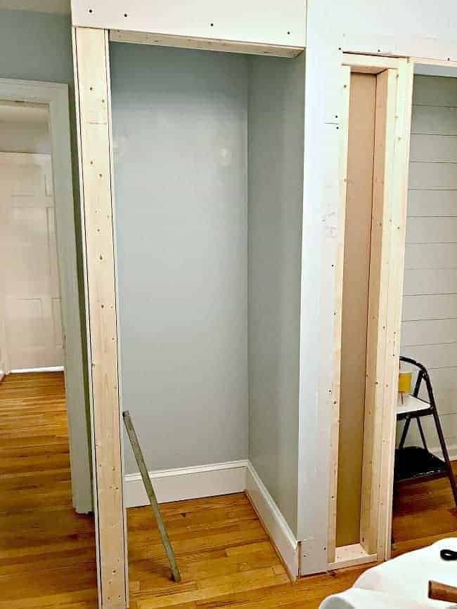 small bedroom closet framed out