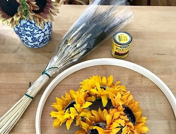 How to Make a Fall Wreath for the Front Door (and a video)