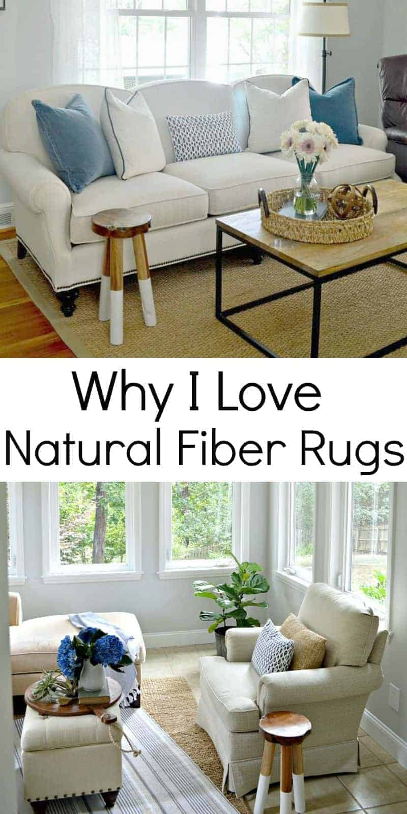 The reasons why I love natural fiber rugs and tips on buying one for your living room or bedroom.