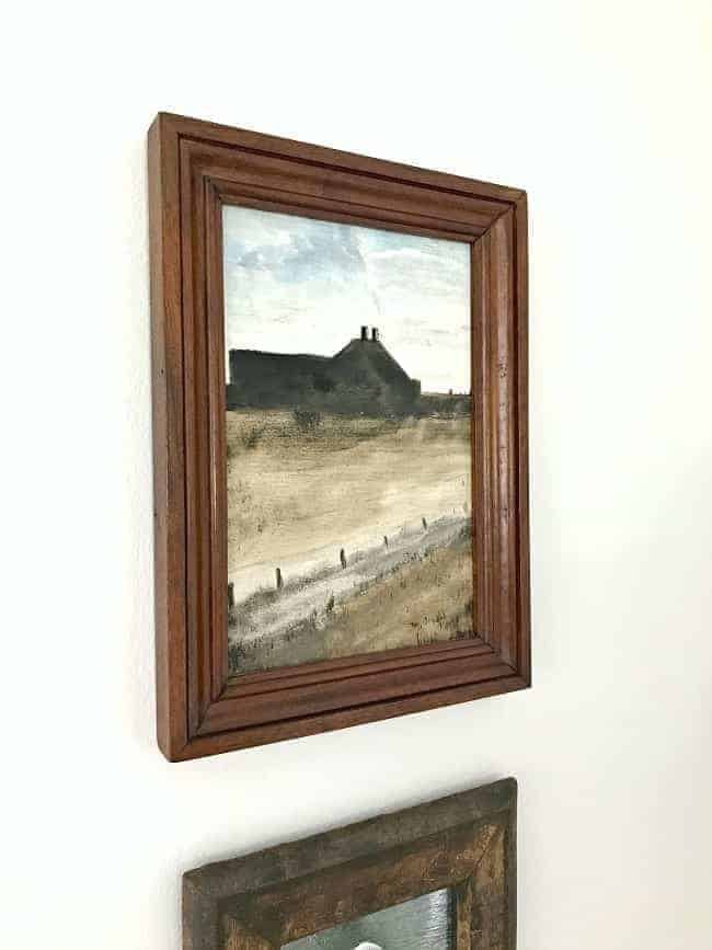 How to use thrift store art in your home. A fun way to repurpose old art from thrift stores and flea markets.