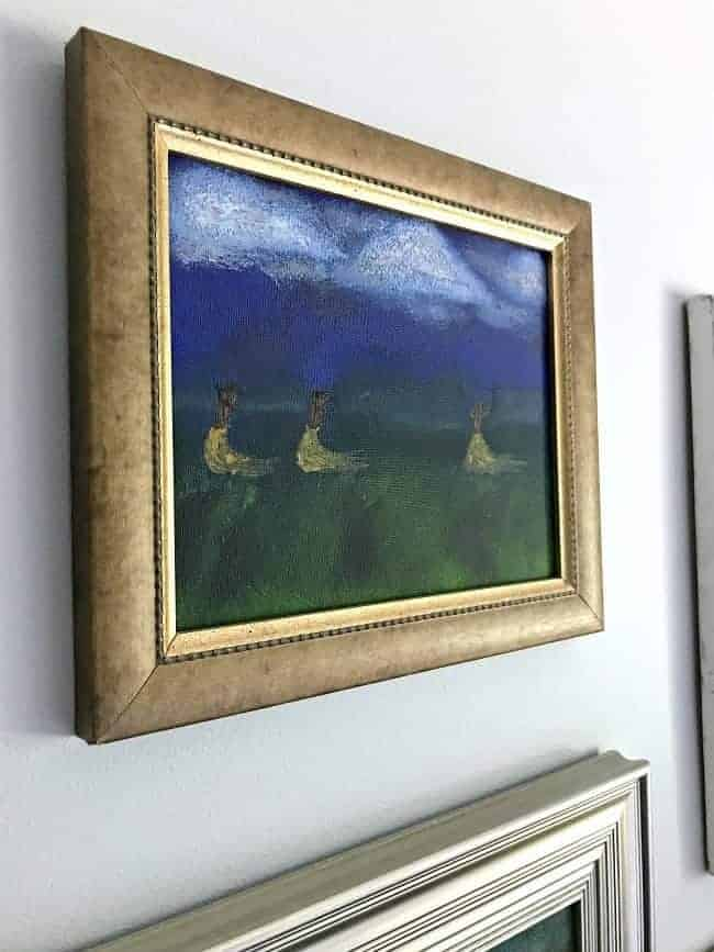 thrift store art gallery wall
