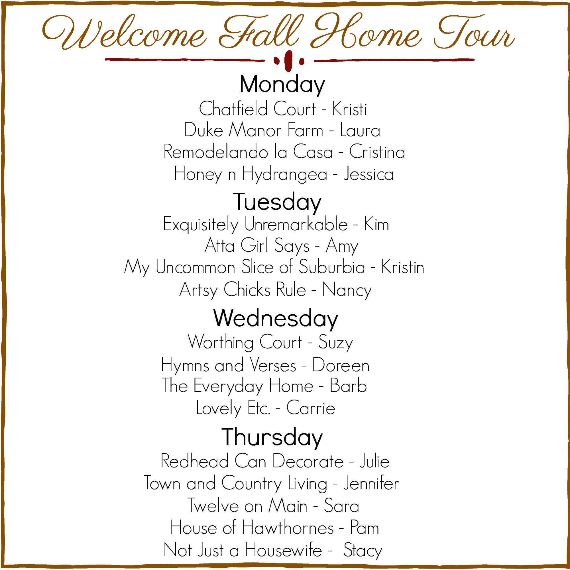 Welcome Fall Home Tour